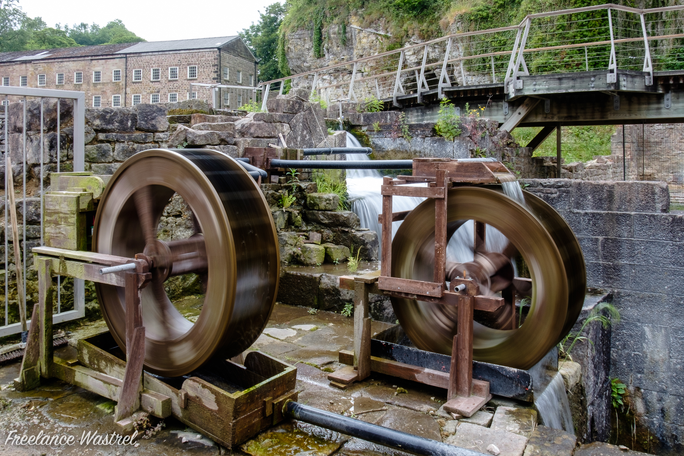 Water wheels, Cromford Mill, June 2018