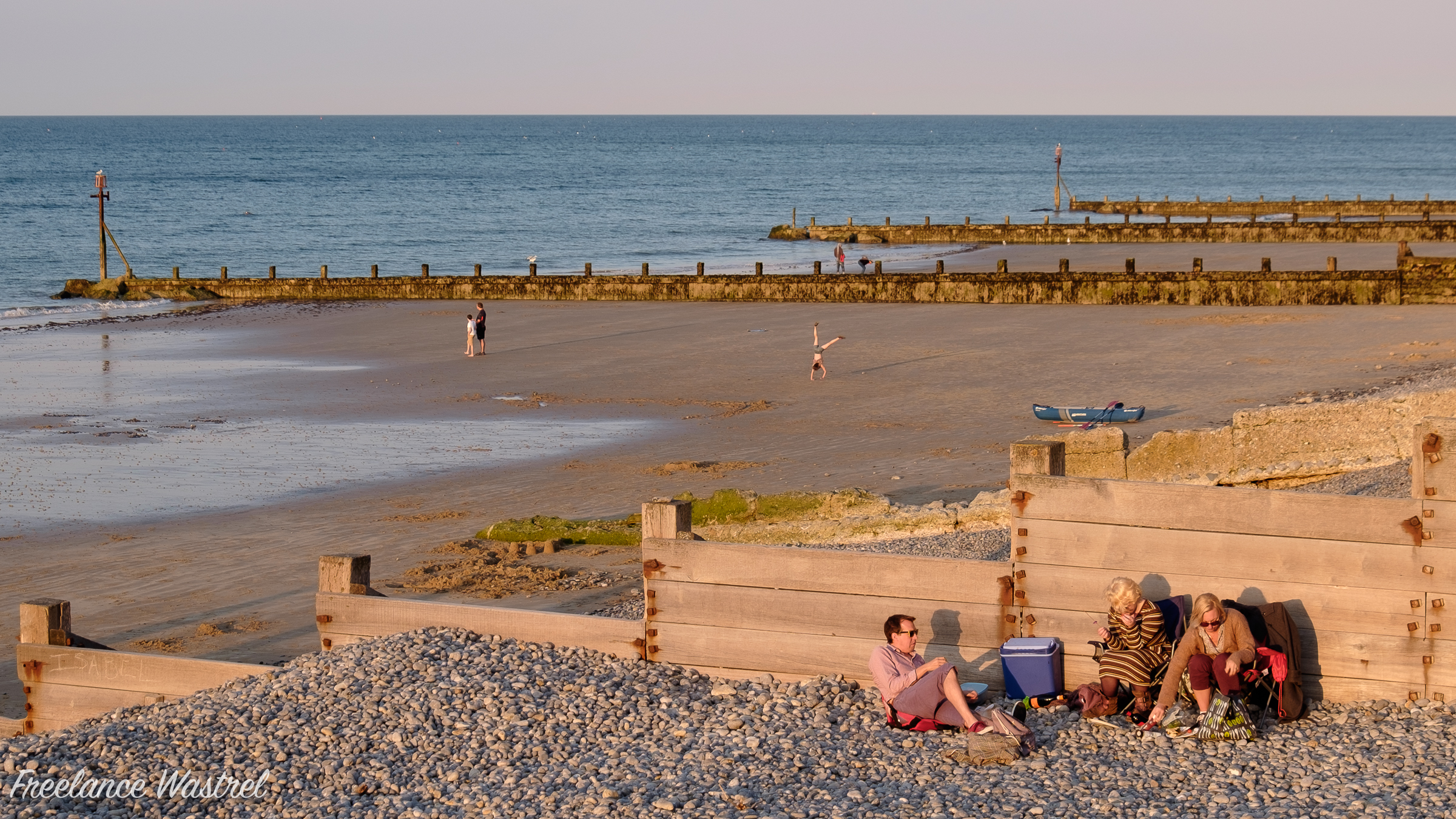 Picnic on the beach, Sheringham, September 2018