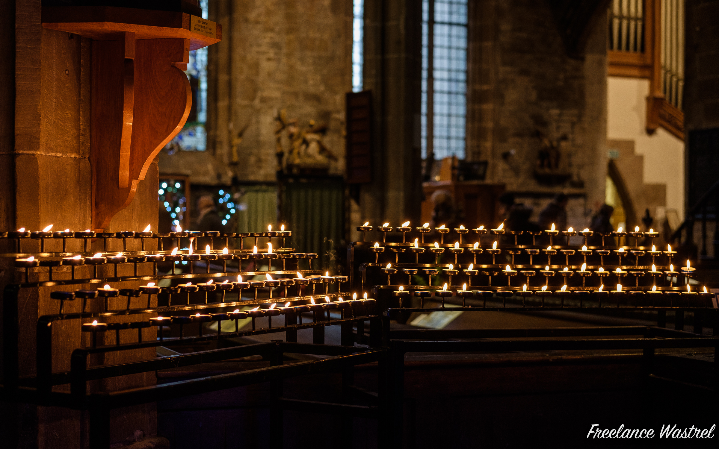 Candles, The Parish Church of St. Mary and All Saints, Chesterfield
