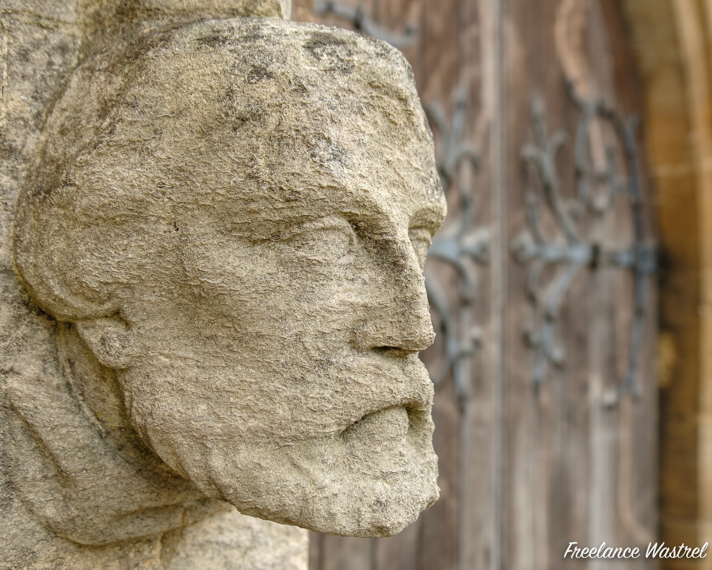 Stone face, Arundel Cathedral