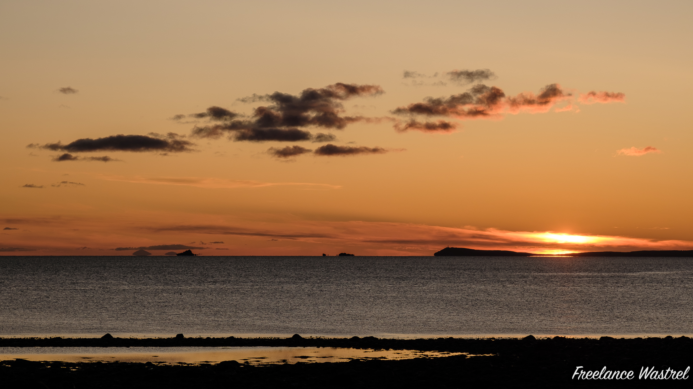 Sunset, Mull of Galloway, October 2019