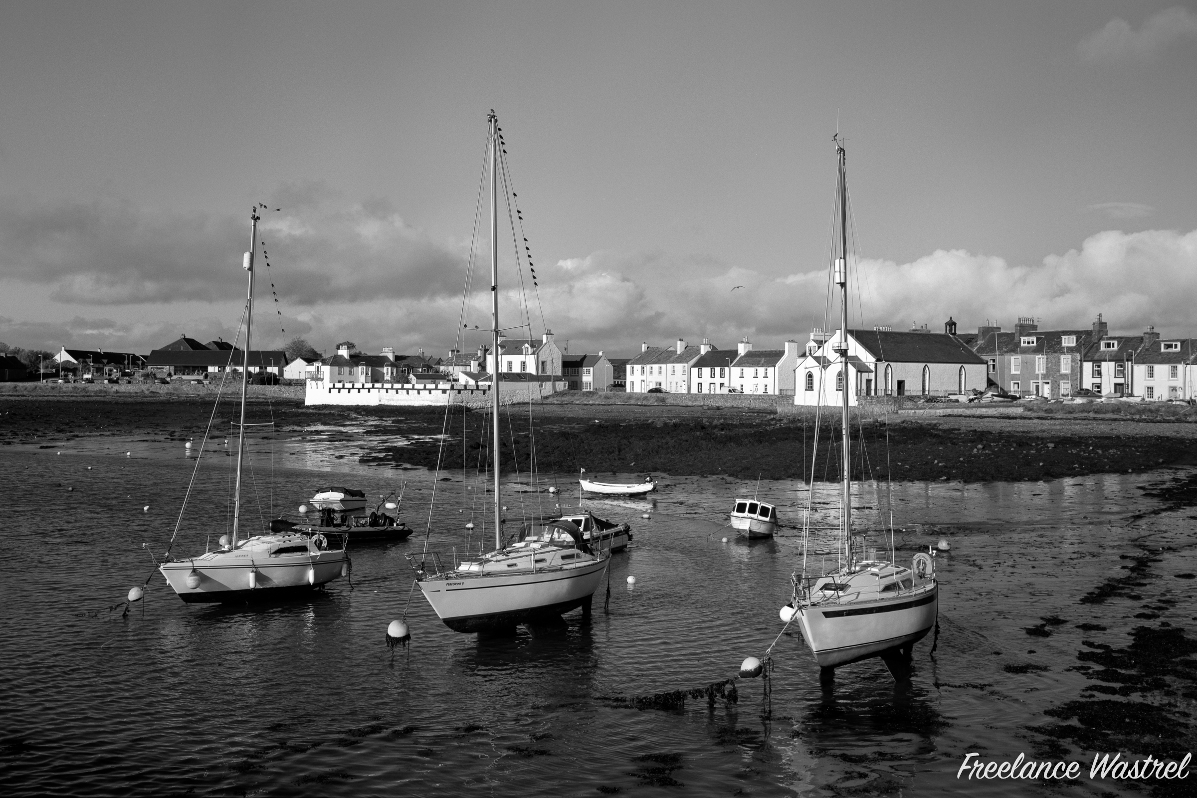 Yachts at rest, Isle of Whithorn