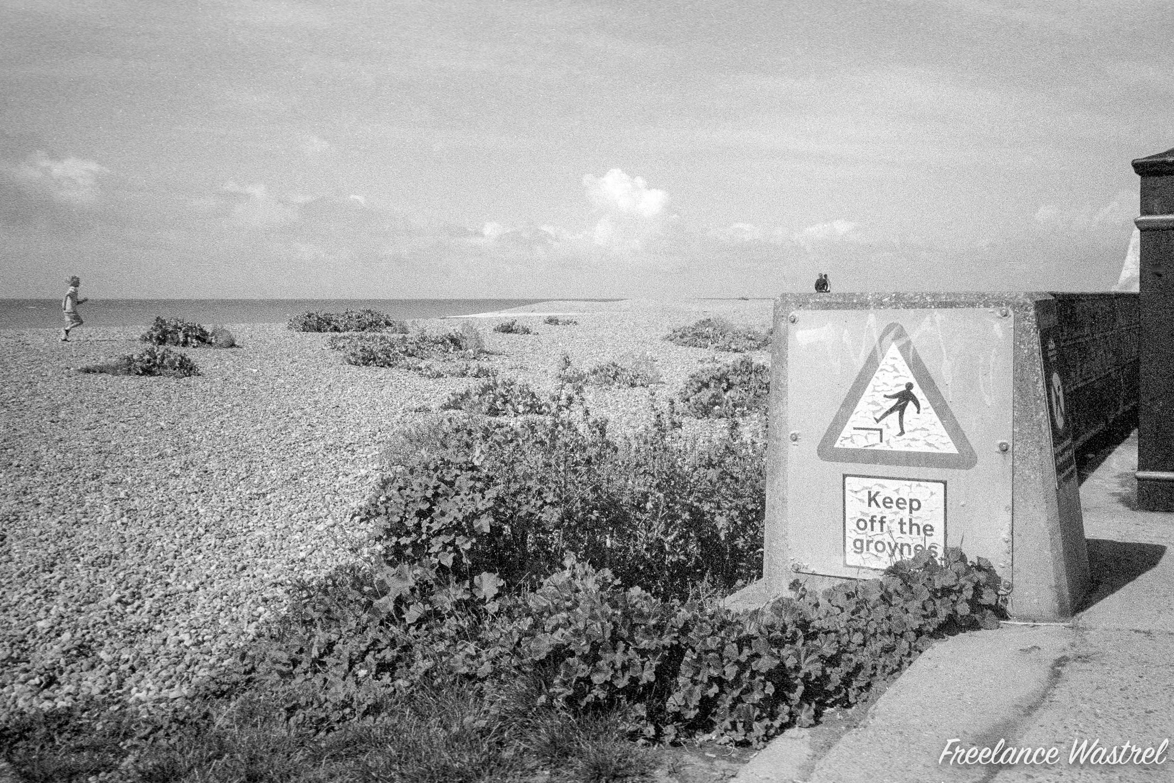 Keep off the groynes, Saltdean, July 2020