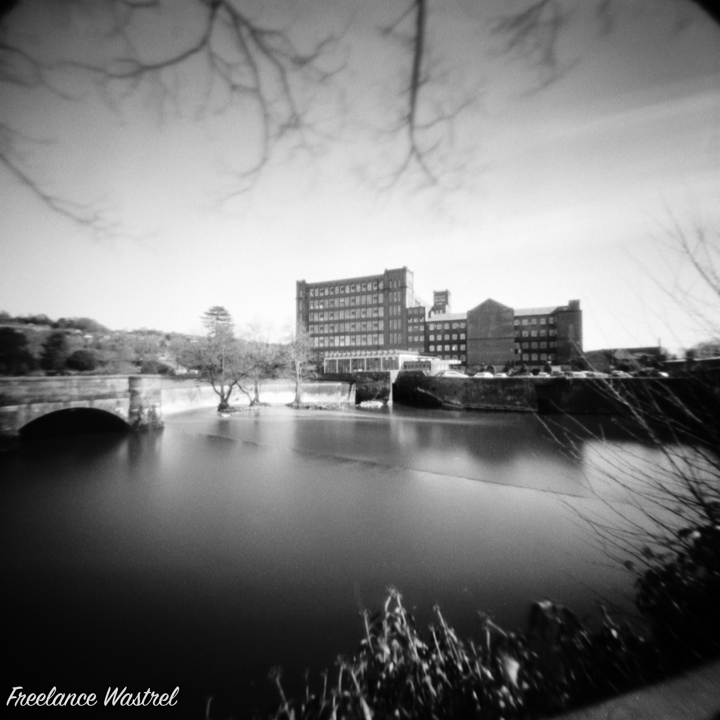 Belper Mill and the River Derwent, March 2021