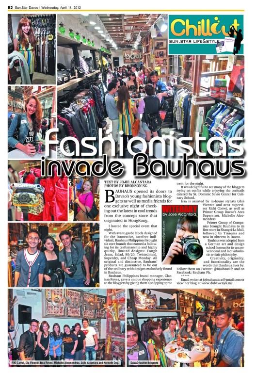 Fashionistas Invade Bauhaus by Jojie Alcantara