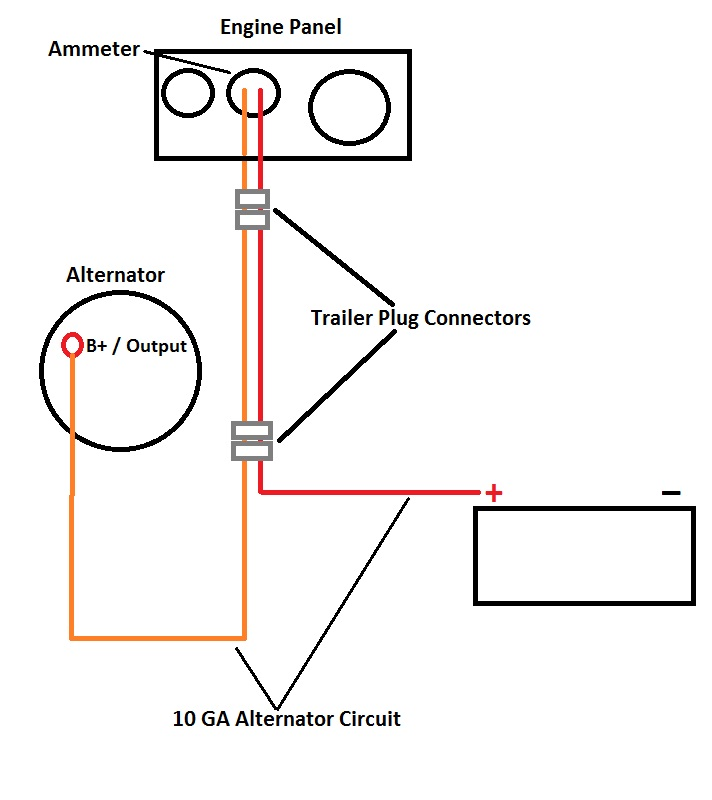 Alternator Wiring Diagram With Ammeter