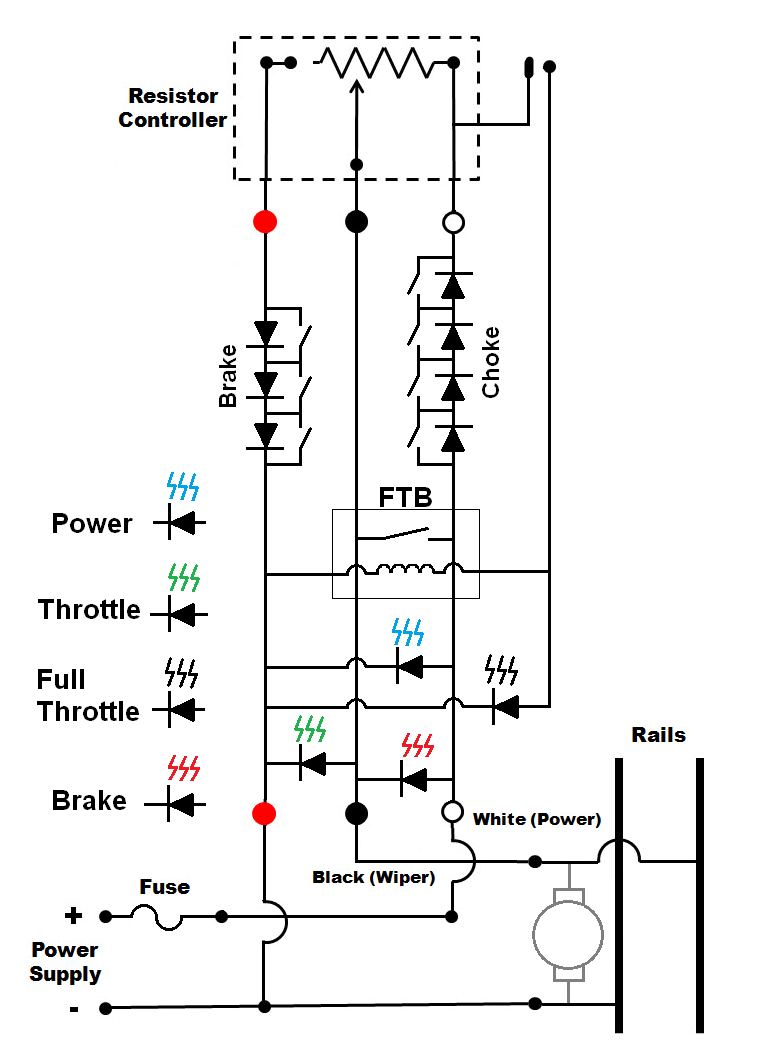 Which direction to put diodes for choke and brake buffer?