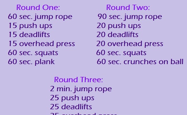 Get Your Heart Rate Up Circuit Workout Peanut Butter Fingers