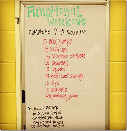Functional Training Workout from Peanut Butter Fingers