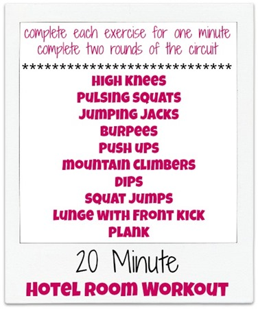 20-Minute Hotel Room Workout - Peanut Butter Fingers