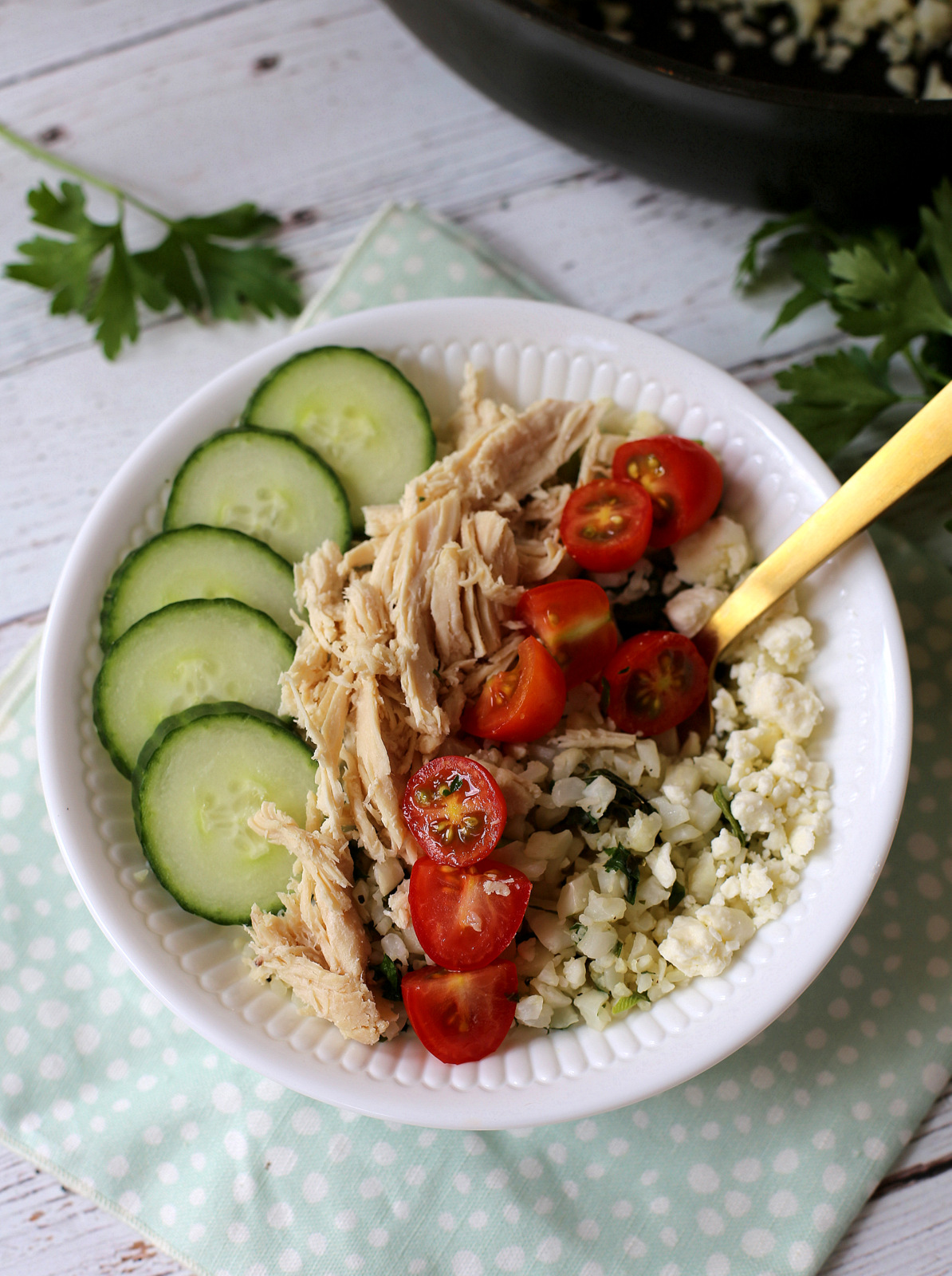 Zoes Kitchen Cauliflower Rice Recipe Bright and