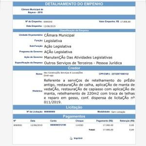InShot 20191111 174347579 - EMPRESA FANTASMA?! Ministério Público investiga a contratação de suposta 'sorveteria' para reparos na sede da Câmara de Bayeux; confira