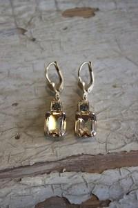 Brass Crystal Earrings | Earring | La Vie Parisienne