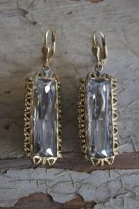 Rectangle Crystal Earrings | Earring | La Vie Parisienne