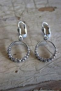 Silver Circle Earrings | Earring | La Vie Parisienne