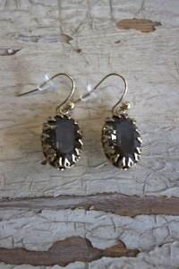 Encased Oval Crystal Earrings | Earring | La Vie Parisienne