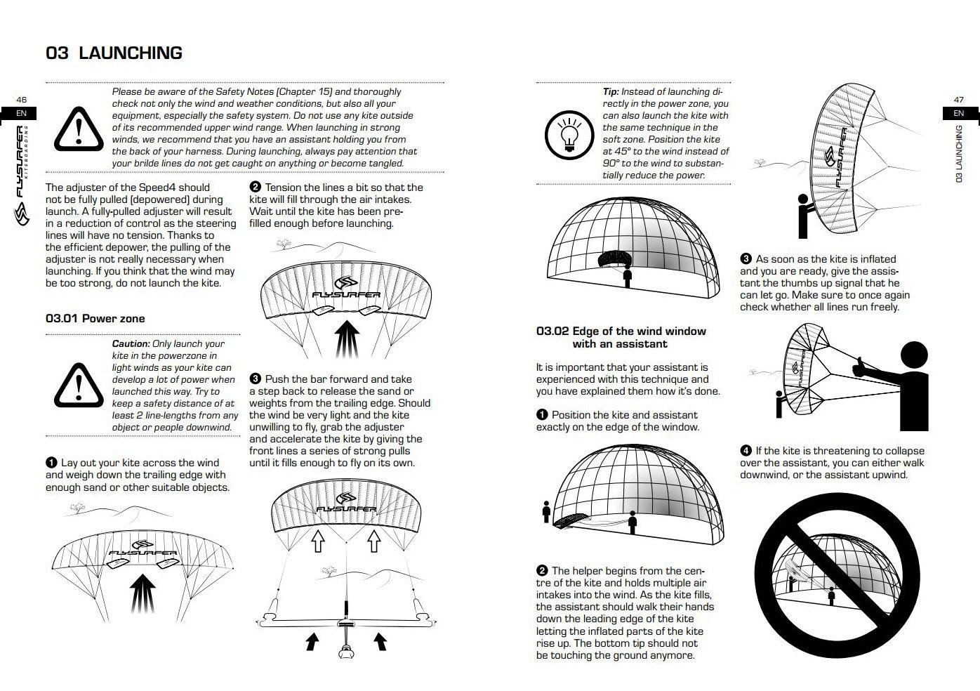 Flysurfer Speed 4 Speed4 Manual English Canada. Speed 4 8m