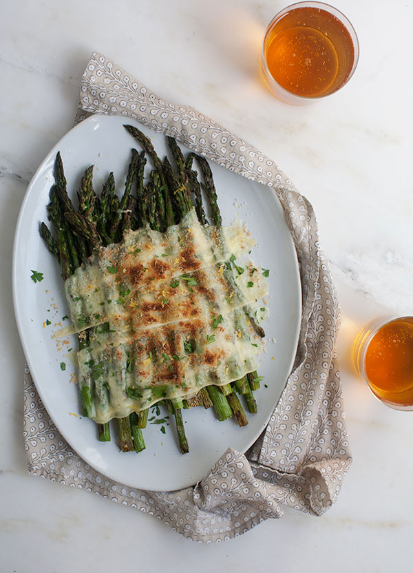 Grilled Asparagus with Raclette recipe