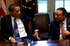 President Obama and Pakastani President Zardari, White House photo by Pete Souza