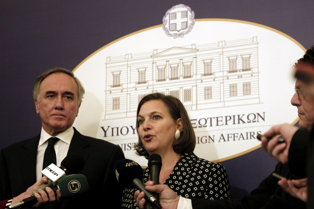 Victoria Nuland's alleged explicit comments about the EU's involvement in Ukraine has caused controversy. Photo by Greece's Ministry of Foreign Affairs on Flickr  A taped and leaked telephone conversation between two U.S. politicians about the future of Ukrainian politics — which included an explicit comment about the European Union — has caused a diplomatic flap, exacerbating tensions between the United States and Russia.