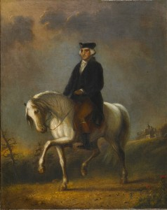 """George Washington at Mount Vernon"" by Alfred Jacob Miller. From Walters Art Museum via Wikimedia Commons"
