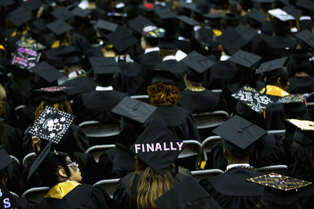 Graduates of the Class of 2015 prepare to set out into the world. Here's some advice they received this spring. Photo by Chip Somodevilla/Getty Images.