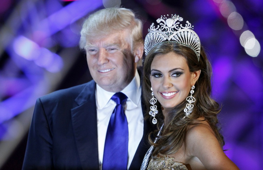 Erin Brady poses with Donald Trump, co-owner of the Miss Universe Organization, at a news conference after being crowned Miss USA 2013 at the Planet Hollywood Resort and Casino in Las Vegas, Nevada June 16, 2013. NBC dropped its contract with Trump and will no longer air the Miss USA pageant after Trump's recent comments regarding Mexican immigrants that are being described as 'bigoted' and 'racist.' Photo by Steve Marcus