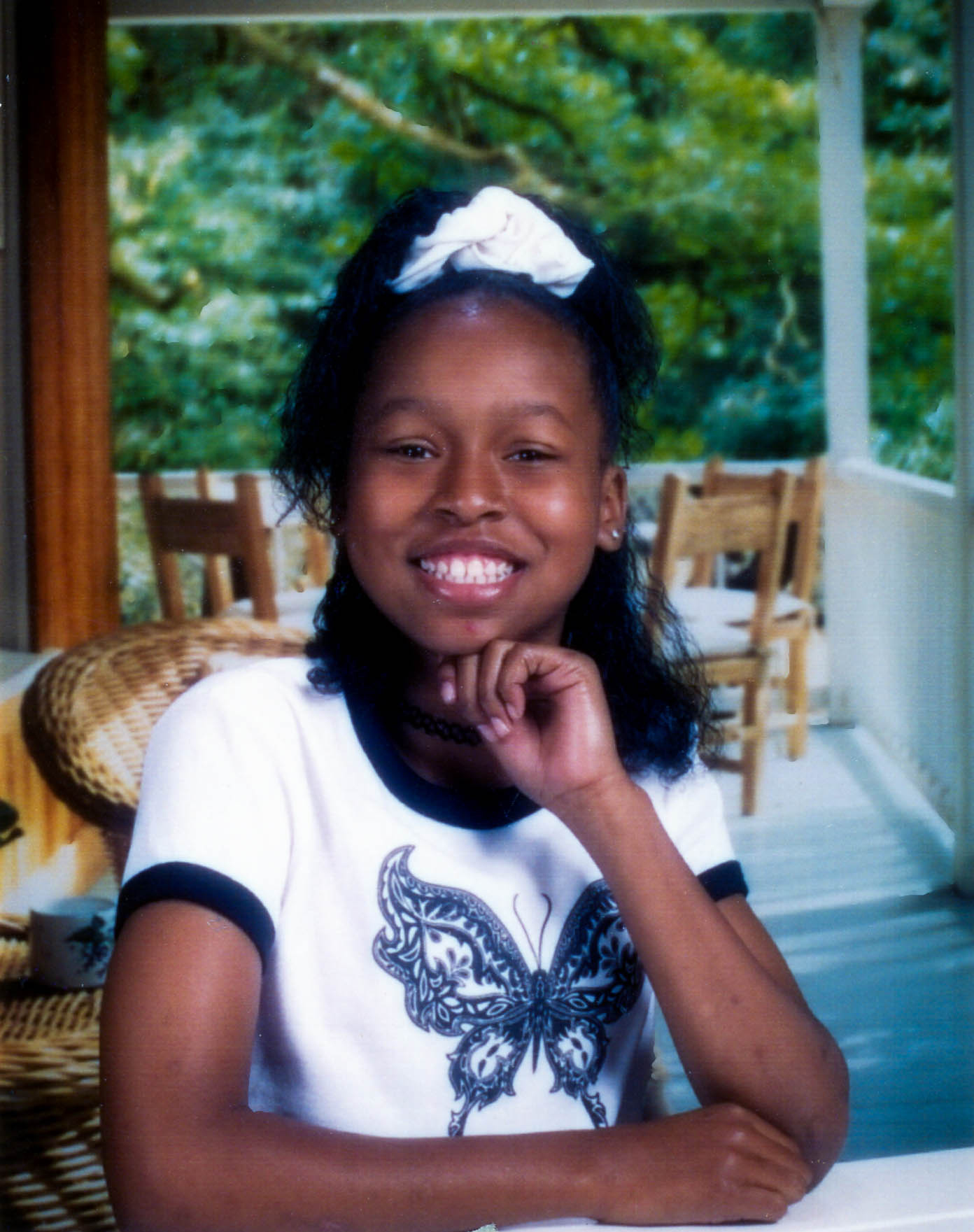 A photo of Jassmine McBride as a young girl.