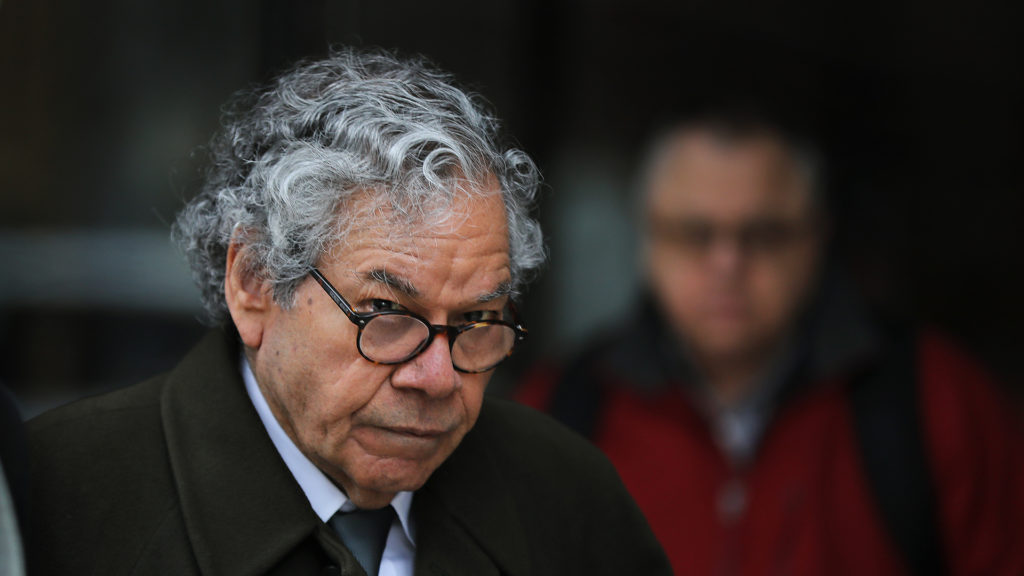 Insys Therapeutics founder John Kapoor leaving federal court in Boston on March 13, 2019.