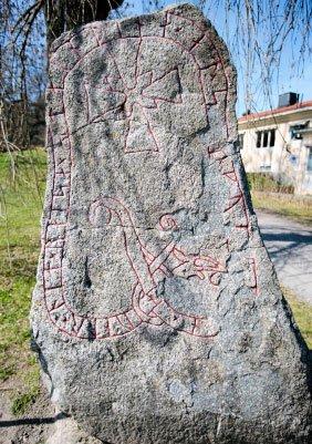 runestone with cross