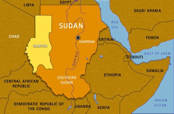 Map Sudan Chad And Surrounding Areas On Our Watch