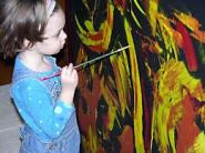 amateur painter girl child