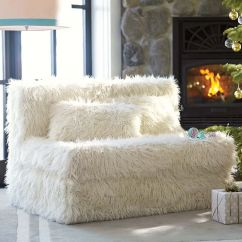 Fuzzy Chair Covers Big Agnes Helinox Fur Sofa European Style White Black Grey Orange Solid Faux Cover - Thesofa