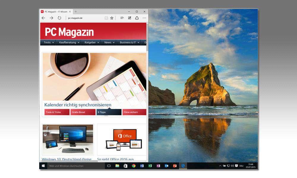 Windows 10, Tastenkombination