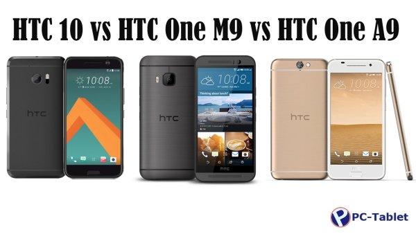HTC 10 vs HTC One M9 vs HTC One A9