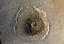 "Volcanic activity on Mars"
