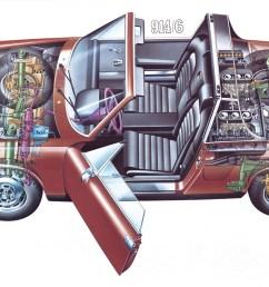above cutaway of a 1970 porsche 914 6  [ 1250 x 786 Pixel ]