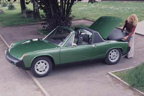 small resolution of above 1975 porsche 914 complete with larger crash resistant bumpers introduced that year