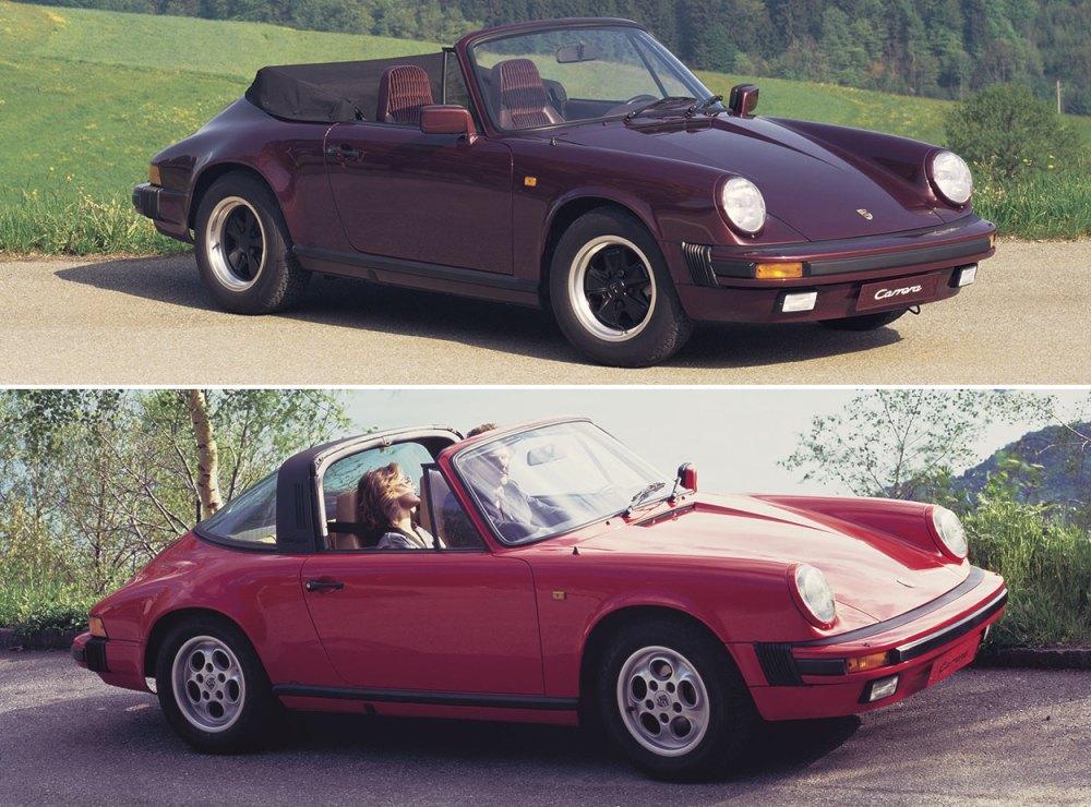 medium resolution of above 1984 porsche 911 carrera cabriolet top and targa