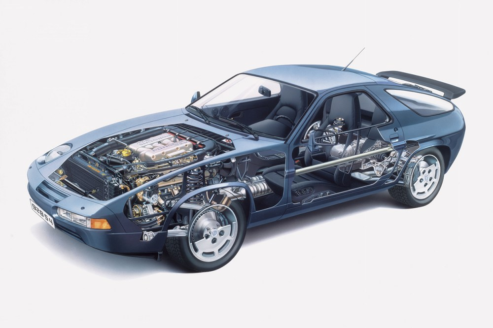 medium resolution of above cutaway drawing of 1991 928 s4