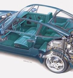 above 1992 911 turbo cutaway drawing  [ 1250 x 644 Pixel ]
