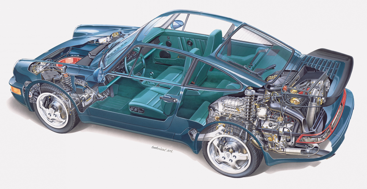 hight resolution of above 1992 911 turbo cutaway drawing