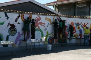 Learners painting