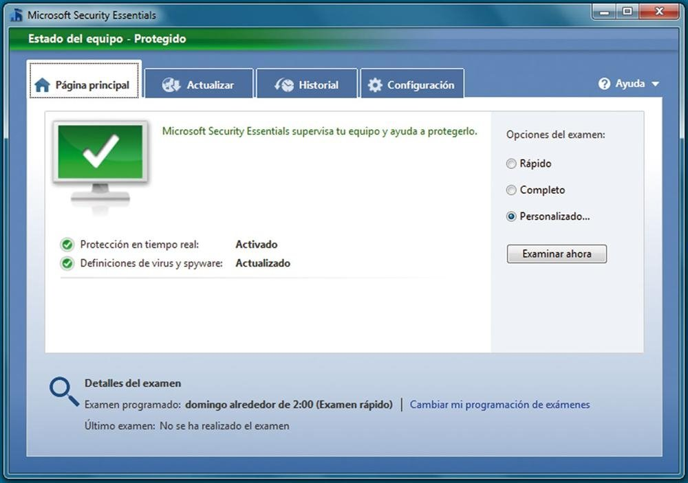 Microsoft Security Essentials  práctico 3