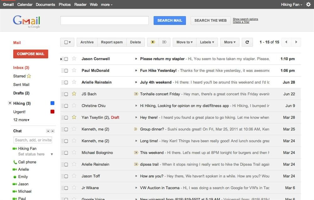 Cambios interfaz Google Gmail
