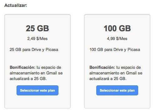 Almacenamiento Google Drive y Picasa