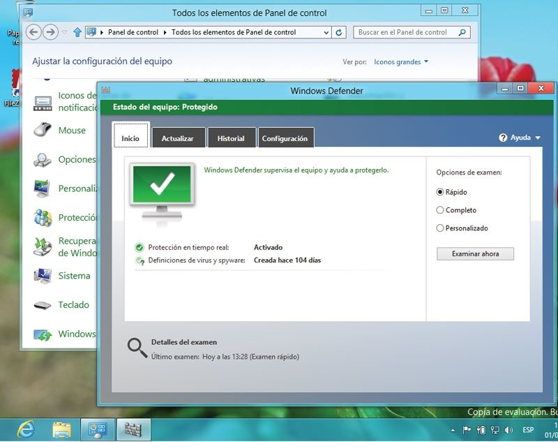 Windows 8. Antivirus