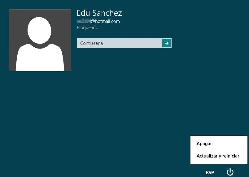 Windows 8 pantalla de bloqueo