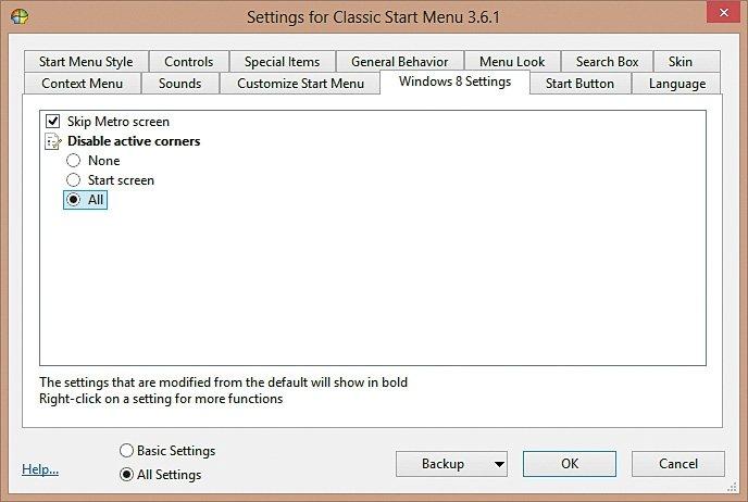 botón de Inicio a Windows 8 7