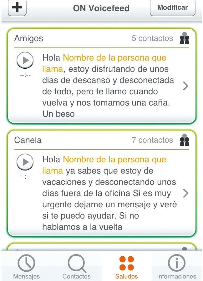 Aplicaciones móviles Libon Voicefeed